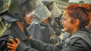 Една от най-известните протестърки е кандидат-кметица