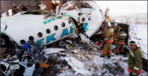 Самолет със 100 души на борда се разби в Казахстан (СНИМКИ,ВИДЕО)
