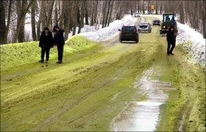 Зелен сняг изуми руснаци (СНИМКИ)