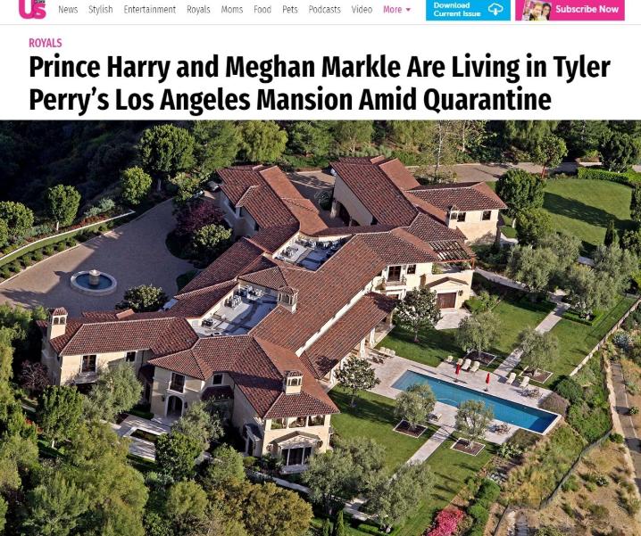 палат, имение, дворец, Хари, Меган, Лос Анджелис