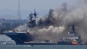Read more about the article Взрив рани поне 20 моряци и разруши кораб в Сан Диего (ВИДЕО)