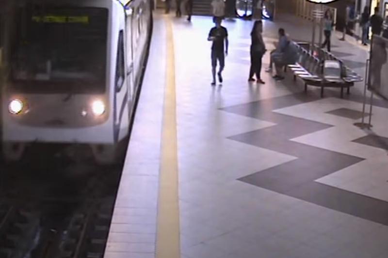Ето как бе спряно метрото в София (ВИДЕО)