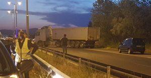 """Имало провокации от протестиращите на блокадата на АМ """"Марица"""", твърди полицията"""