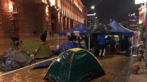 Дъждът и градушката не спряха стотици протестиращи да излязат на 31-ви протест (ВИДЕО)
