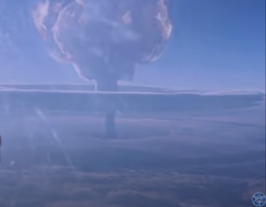 Разсекретиха кадри от най-мощния ядрен взрив в историята (ВИДЕО)