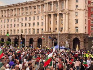 64-тият антиправителствен протест завърши без напрежение и инциденти
