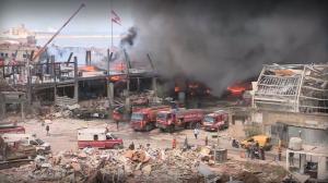 Отново пламна пристанището в Бейрут (ВИДЕО)