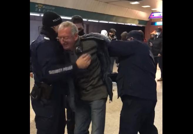 Първи арест за неносене на маска в метрото (ВИДЕО)