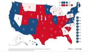 Тръмп VS. Байдън: Картата на САЩ почервеня (НА ЖИВО)