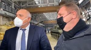 Борисов и Каракачанов разгледаха българските танкове в Пазарджик (ВИДЕО)