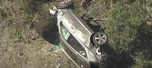 Тайгър Уудс катастрофира жестоко, рязали колата му, за да го извадят (ВИДЕО)