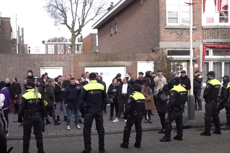 Сблъсъци, арести и водно оръдие на протест срещу мерките в Нидерландия (ВИДЕО)