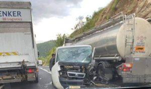 Пиян шофьор предизвика тежка верижна катастрофа в Кресненското дефиле (ВИДЕО)